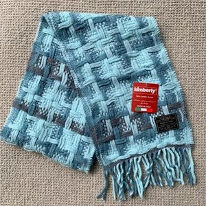 Kimberly Lambswool Blend Woven Scarf Made in Italy